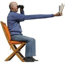 Reading at arms length