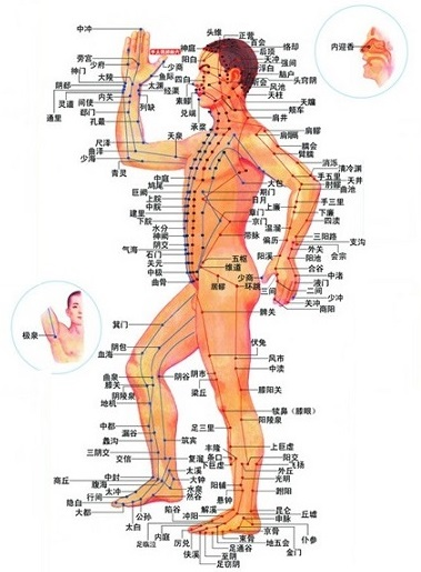Acupressure points on human body